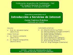 Federacin Argentina de Cardiologa FAC XXI Congreso Nacional