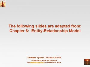 The following slides are adapted from Chapter 6