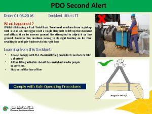 PDO Second Alert Date 01 08 2016 Incident