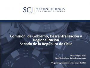 Comisin de Gobierno Descentralizacin y Regionalizacin Senado de