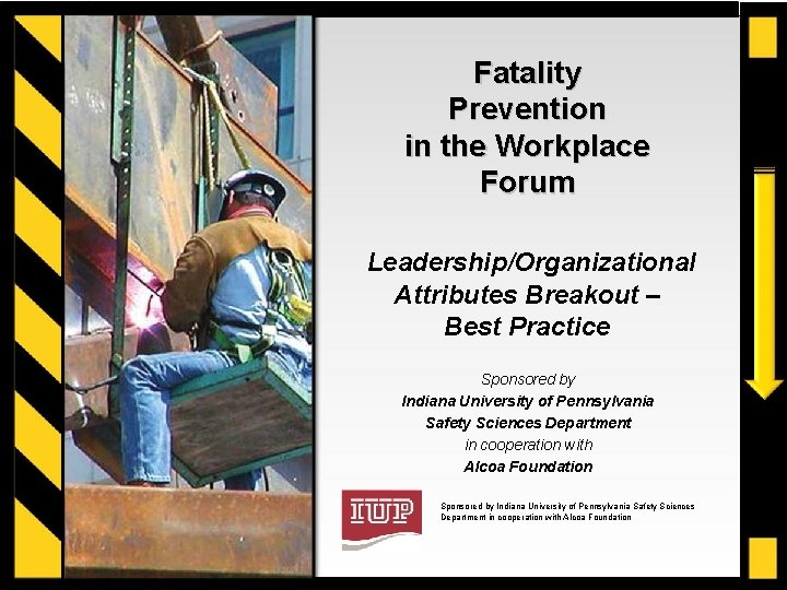 Fatality Prevention in the Workplace Forum LeadershipOrganizational Attributes