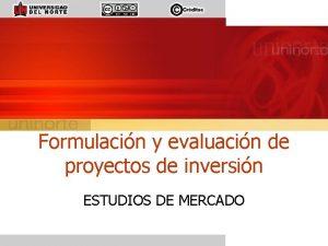 Formulacin y evaluacin de proyectos de inversin ESTUDIOS