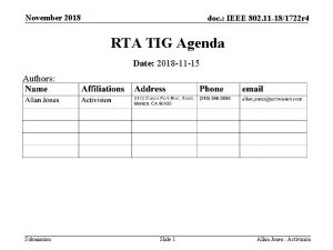 November 2018 doc IEEE 802 11 181722 r