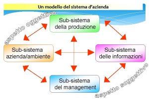 Un modello del sistema dazienda Subsistema della produzione