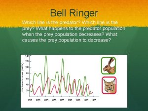 Bell Ringer Which line is the predator Which