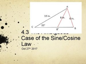 4 3 The Ambiguous Case of the SineCosine