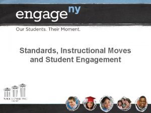 Standards Instructional Moves and Student Engagement Welcome Introduce