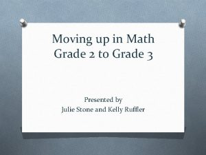 Moving up in Math Grade 2 to Grade