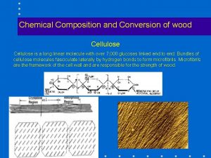 Chemical Composition and Conversion of wood Cellulose is