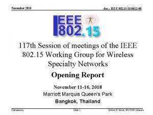 November 2018 doc IEEE 802 15 18 0612