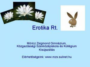 Erotika Rt Mricz Zsigmond Gimnzium Kzgazdasgi Szakkzpiskola s