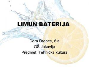 LIMUN BATERIJA Dora Drobec 6 a O Jakovlje