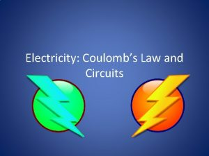 Electricity Coulombs Law and Circuits Vocabulary Electric charge