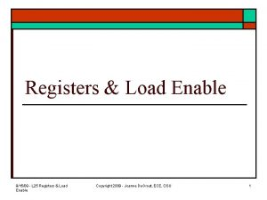 Registers Load Enable 91509 L 25 Registers Load
