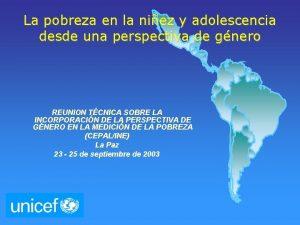 La pobreza en la niez y adolescencia desde