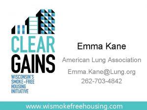 Emma Kane American Lung Association Emma KaneLung org