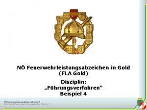 N Feuerwehrleistungsabzeichen in Gold FLA Gold Disziplin Fhrungsverfahren