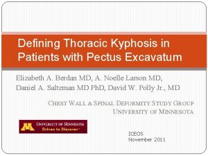 Defining Thoracic Kyphosis in Patients with Pectus Excavatum