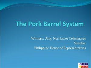 The Pork Barrel System Witness Atty Neri Javier