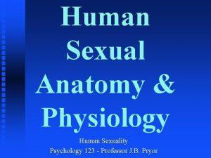 Human Sexual Anatomy Physiology Human Sexuality Psychology 123