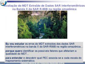 Avaliao do MDT Extrado de Dados SAR Interferomtricos