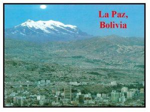 La Paz Bolivia Fighting Corruption in La Paz