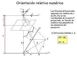 Orientacin relativa numrica bz by k Las frmulas