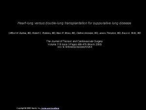 Heartlung versus doublelung transplantation for suppurative lung disease