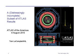 A Distressingly Incomplete Subset of ATLAS Results ATLAS