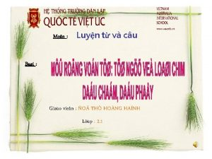 Mon Bai Luyn t v cu GIOI THIEU