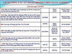 LCH CNG TC T NGY 0852017 N NGY