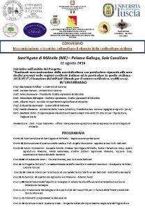 Regione Siciliana ASSESSORATO REGIONALE DELLAGRICOLTURA DELLO SVILUPPO RURALE