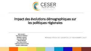 Impact des volutions dmographiques sur les politiques rgionales