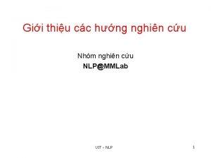 Gii thiu cc hng nghin cu Nhm nghin