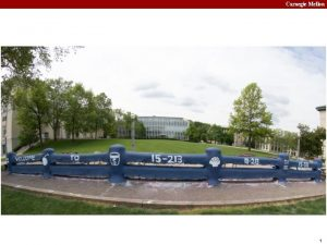 Carnegie Mellon 1 Carnegie Mellon Synchronization Advanced 15