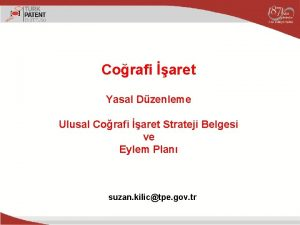 Corafi aret Yasal Dzenleme Ulusal Corafi aret Strateji