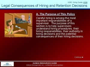 6200 Hiring Guide 6205 Legal Consequences of Hiring