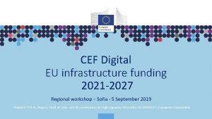 CEF Digital EU infrastructure funding 2021 2027 Regional