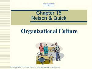 Chapter 15 Nelson Quick Organizational Culture Copyright 2005