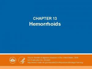 CHAPTER 13 Hemorrhoids Source Burden of digestive diseases