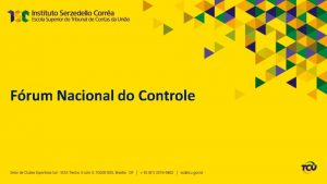Frum Nacional do Controle 1 dia Quintafeira 2610