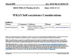March 2008 doc IEEE 802 22 080137 r