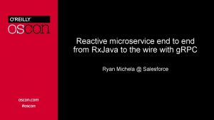 Reactive microservice end to end from Rx Java