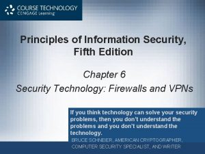 Principles of Information Security Fifth Edition Chapter 6