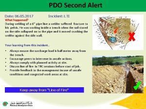 PDO Second Alert Date 06 05 2017 Incident