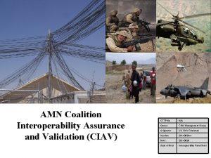 AMN Coalition Interoperability Assurance and Validation CIAV CTTP