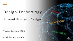 Design Technology A Level Product Design Taster Session