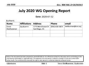 July 2020 doc IEEE 802 19 200023 r