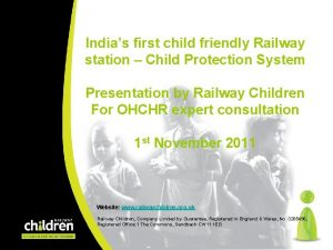 Indias first child friendly Railway station Child Protection