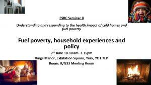 ESRC Seminar 8 Understanding and responding to the